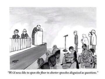 New Yorker Cartoon on Conference Behavior