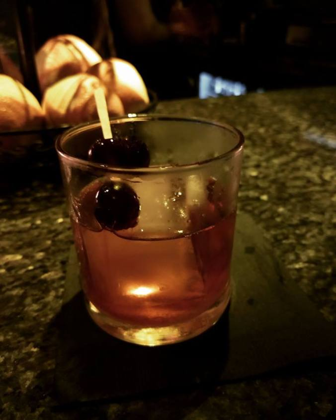 Jameson Black Barrel Old Fashion (angustora bitters, sugar cube, bradied cherries)